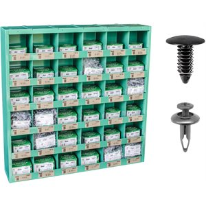 DOMESTIC RETAINER ASSORTMENT IN 36 COMPARTMENT BIN