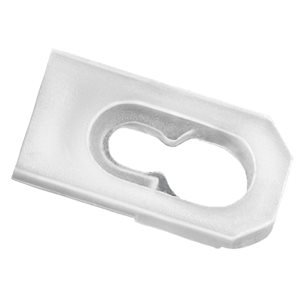 MOULDING CLIP FOR LANDAU TOP - WHITE NYLON