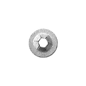 PUSH-ON RETAINER 3.2MM STUD 9.5MM OD -ZINC