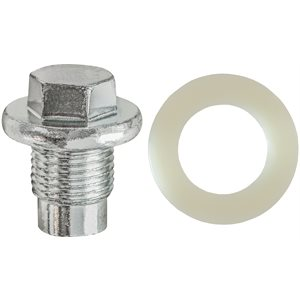 OIL DRAIN PLUG W/GASKET M14-1.25 THREAD ZINC