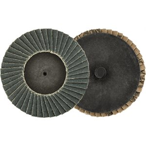 "3"" MINI ZIRCONIA FLAP DISC - 80 GRIT - TYPE 1"