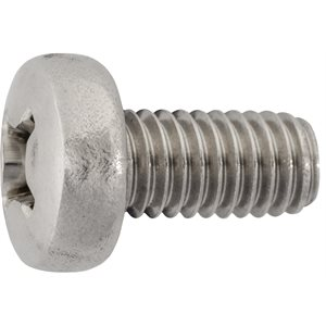 M6- 1.0 X 12MM PHILIPS PAN HEAD LICENSE PLATE SCREW