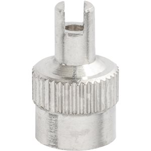 TIRE VALVE SLOTTED CAP - STEEL