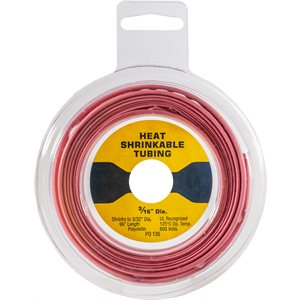 THIN WALL HEAT SHRINK TUBING - 8' DISK - RED