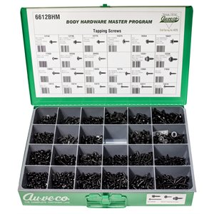 BHM ASST. (BLACK FLAT TOP WASHER HD & SPECIALTY TAPPING SCREWS)