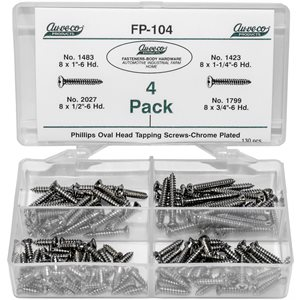 PHIL OVAL HD TAP SCREW CHROME (130 PCS)