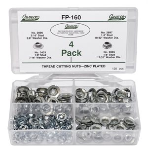 THREAD CUTTING NUTS (125 PCS)