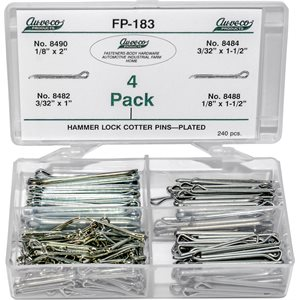 HAMMER LOCK COTTER PINS PLATED (240 PCS)