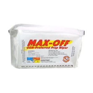 MAX-OFF WIPES - VOC COMPLIANT (ACETONE) - 6 PACKS OF 50 WIPES / CASE
