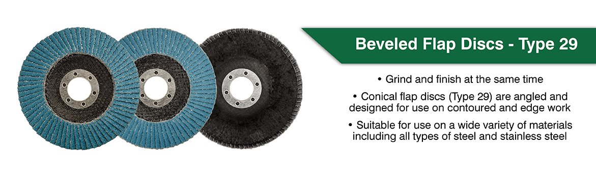 beveled flap disc type 29
